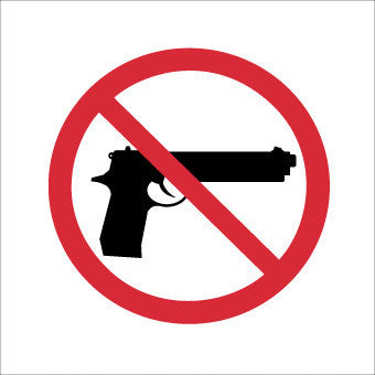 NMC M709P-NO FIREARMS (GRAPHIC ONLY), 8 X 8, PS VINYL (1 EACH)