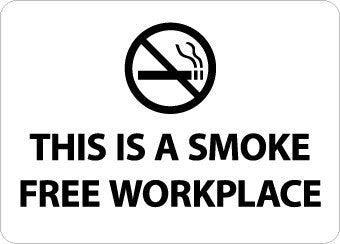 NMC M761RB-(GRAPHIC) THIS IS A SMOKE FREE WORKPLACE, 10X14, RIGID PLASTIC (1 EACH)