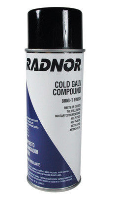 Radnor 64000131 12 Ounce Cold Galvanizing Compound, Zinc Rich Primer,  Bright Finish Spray (1 PER CASE)