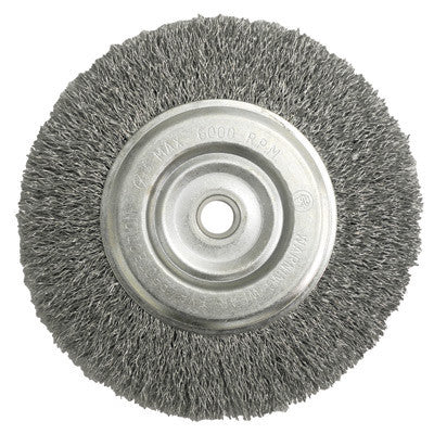 Marvelous Radnor 64000400 6 X 5 8 1 2 Carbon Steel Crimped Wire Wheel Brush For Use On Bench And Die Grinders 1 Per Case Gmtry Best Dining Table And Chair Ideas Images Gmtryco