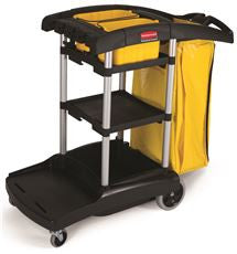 Rubbermaid FG9T7200BLA HIGH CAP CLEANING CART (1 PER CASE)