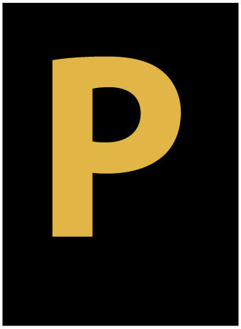 NMC HIL15P-LETTER, P, 1.5 HIGH VISIBILITY YELLOW BLACK, PS VINYL (1 EACH)