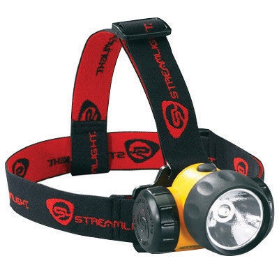 Streamlight 61200 Yellow HAZ-LO Head Lamp With LED (3 AA Alkaline Batteries Included)  (1/EA)