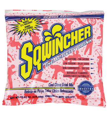 Sqwincher 016050-CC 23.83 Ounce Instant Powder Concentrate Packet Cool Citrus Electrolyte Drink - Yields 2.5 Gallons  (32/EA)