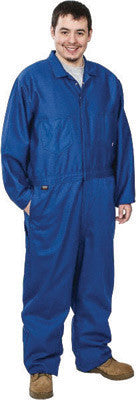 Stanco FRI681RB-4X 4X Royal Blue 9 Ounce Indura Cotton Flame Resistant Coverall With Front Zipper Closure And Elastic Waistband  (1/EA)