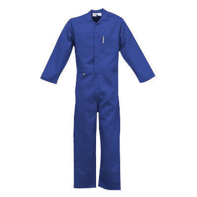 Stanco NX4681RB3XL 3X Royal Blue 4.5 Ounce Nomex IIIA Flame Retardant Coverall With Front Zipper Closure And Elastic Waistband  (1/EA)