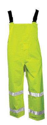 Tingley O24122-XL X-Large Fluorescent Yellow/Green Icon 12 mil Polyurethane And Polyester Class E Level 2 Breathable Rain Bib Overalls With Snap Fly Front Closure And Silver Reflective Tape  (1/EA)