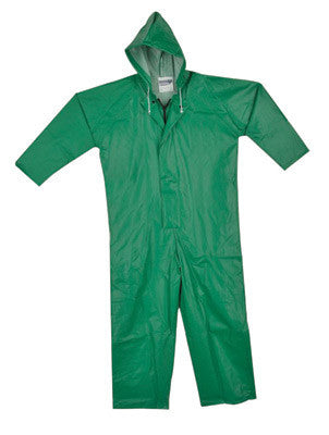 Tingley V41108-2X 2X Green SafetyFlex 17 mil PVC And Polyester Coveralls With Hook And Loop Closure And Hood  (1/EA)