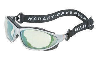 Uvex HD1302 By Honeywell Harley-Davidson Safety Glasses With Black And Silver Polycarbonate Frame And Blue Mirror Polycarbonate Anti-Fog Lens  (10/EA)