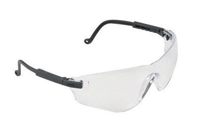 Uvex S4500 By Honeywell Falcon Safety Glasses With Black Plastic Frame And Clear Polycarbonate Ultra-dura Anti-Scratch Hard Coat Lens  (1/EA)