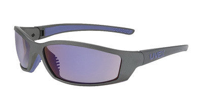 Uvex SX0404 By Honeywell SolarPro Safety Glasses With Gray And Blue Nylon Frame And Blue Mirror Polycarbonate Supra-Dura Anti-Scratch Hard Coat Lens  (1/EA)