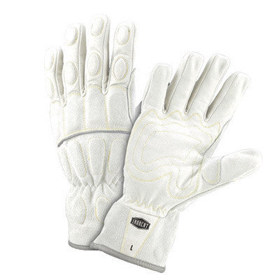 West Chester 9075/L Large Ironcat Full Finger Buffalo And Cow Leather And Kevlar Mechanics Gloves With Foam Padding And Wing Thumb  (1/PR)