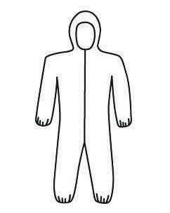 West Chester C3809/XXXXL 4X White PosiWear M3 5-Layer SSMS Polypropylene Disposable Breathable Advantage Coveralls With Front Zipper Closure, Elastic Waistband, Attached Boots And Hood, Elastic Ankles And Elastic Wrists (25 Per Case)  (25/EA)