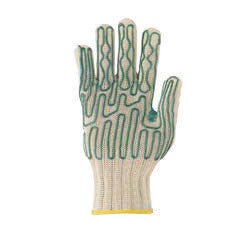 Wells Lamont 133800 Large White Whizard Slipguard Gunn Cut Heavy Duty Fiber And Stainless Steel Right Hand Cut Resistant Gloves With Standard Cuff, Dyneema Lined And Polyurethane Coating  (1/EA)