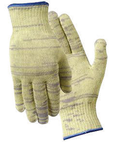 Wells Lamont 1878S Small Gray And Yellow Whizard Metalguard Seamless Knit 10 gauge Medium Weight Fiber And Stainless Steel Ambidextrous Cut Resistant Gloves With Knit Wrist  (12/PR)