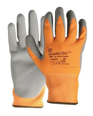 Wells Lamont Y9282HVXL X-Large Hi-Viz Orange And Gray GuardTec3 Dipped Cut Resistant Gloves With Knitwrist And Thermal Lining  (1/PR)