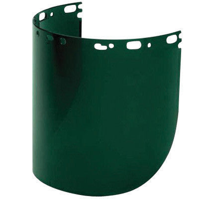"North 11390046 by Honeywell Protecto-Shield 8 1/2"" X 15"" X .07"" Green Propionate Faceshield For Use With Headgear  (1/EA)"