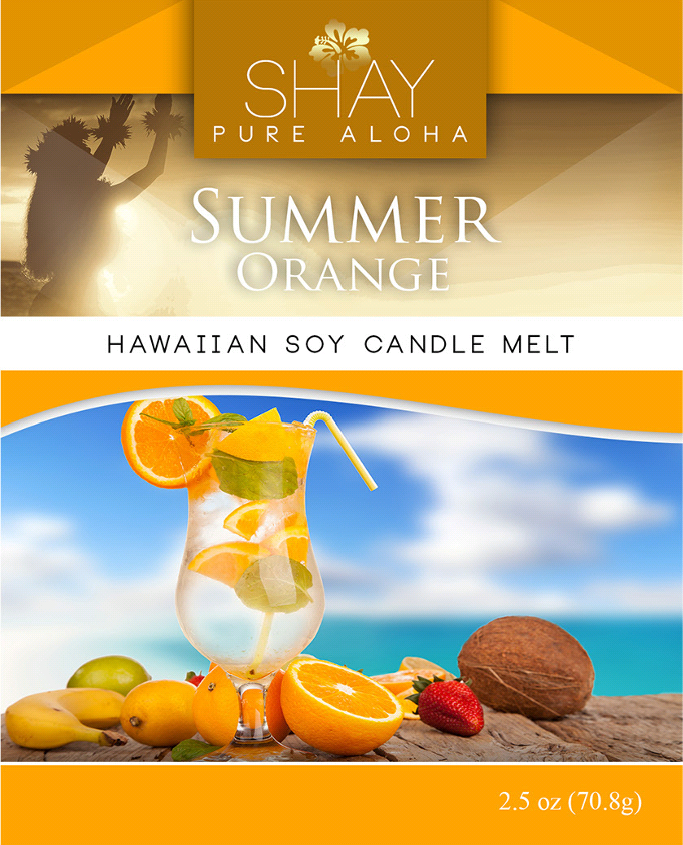 Summer Orange Wickless Soy Candle Melts - Shay Pure Aloha Inc