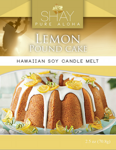 Lemon Pound Cake Wickless Soy Candle Melts - Shay Pure Aloha Inc