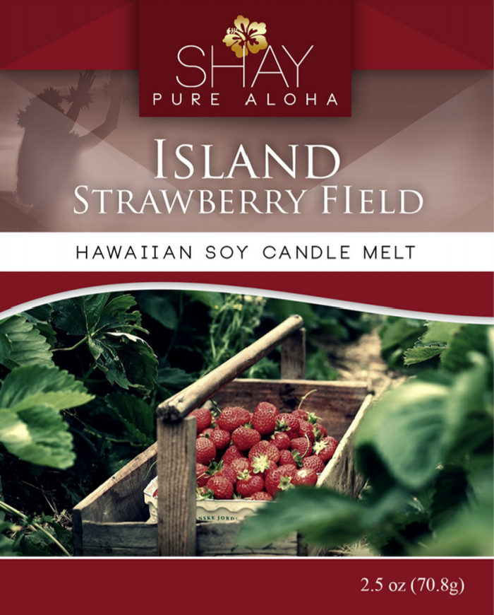 Island Strawberry Fields Wickless Soy Candle Melts