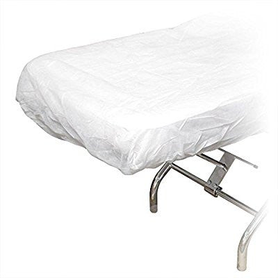 10 Ct. White Disposable Elastic Fitted Bed Sheets Cover Massage Table Facial Chair Spa