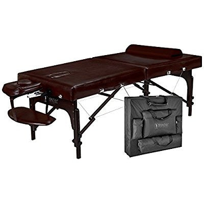 "31""  Portable Massage Table Package-brown Luster, Memory Foam"