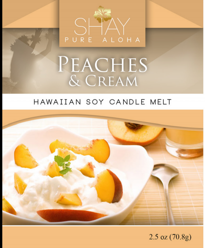 Peaches And Cream Wickless Soy Candle Melts