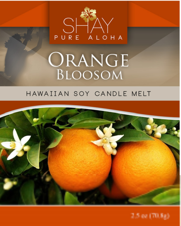 Orange Blossom Wickless Soy Candle Melts - Shay Pure Aloha Inc