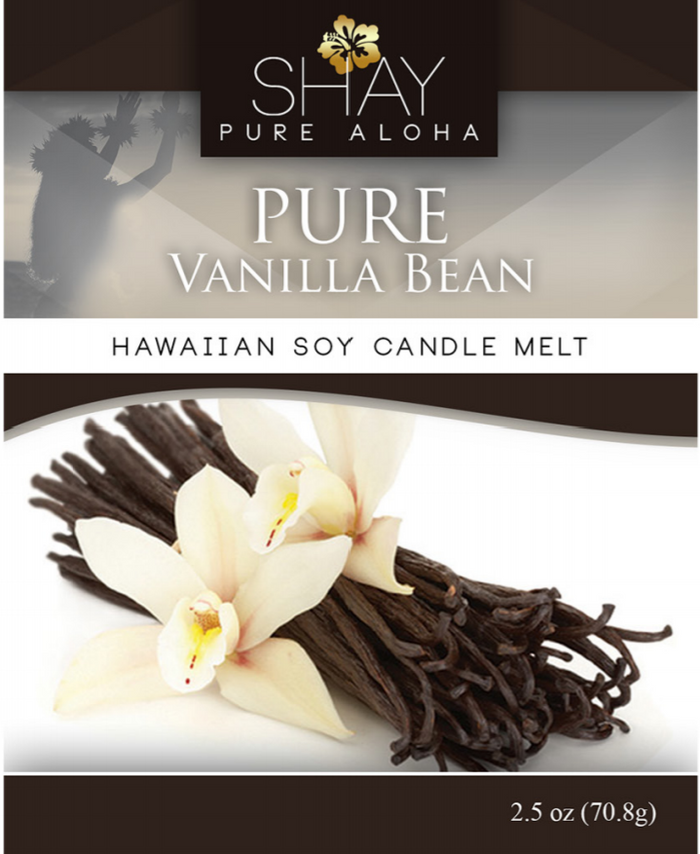 Pure Vanilla Bean Wickless Soy Candle Melts - Shay Pure Aloha Inc