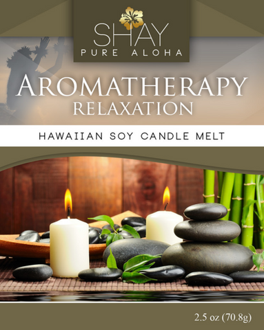 Aromatherapy Relaxation Wickless Soy Candle Melts - Shay Pure Aloha Inc