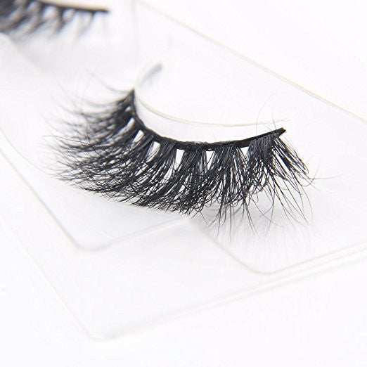 Natural Wispy Thick Reusable Authentic Mink 3D False Eyelashes For makeup 1 Pair Pack