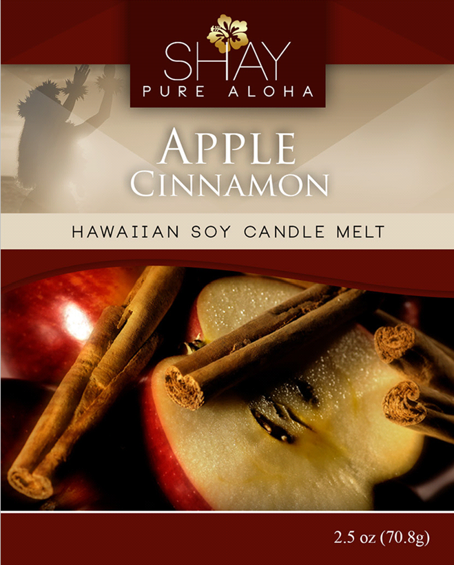 Apple Cinnamon Wickless Soy Candle Melts - Shay Pure Aloha Inc