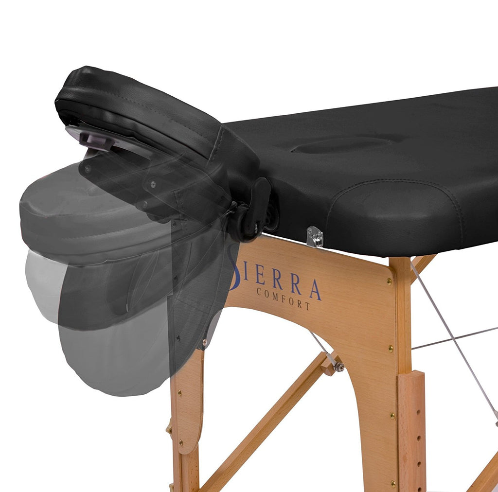 Sierra Comfort Relax Portable Massage Table, Black - Free FEDEX Shipping