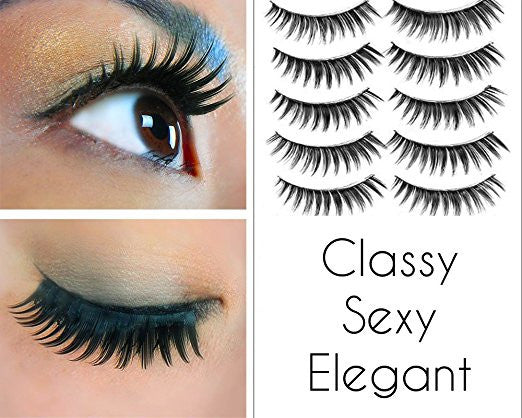 70 Pairs of False Eyelashes with 7 Different Styles