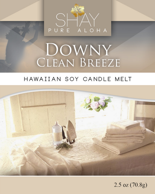 Downy Clean Breeze Wickless Soy Candle Melts - Shay Pure Aloha Inc