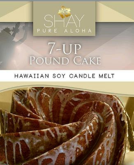 7-UP POUND CAKE Wickless Soy Candle Melts - Shay Pure Aloha Inc