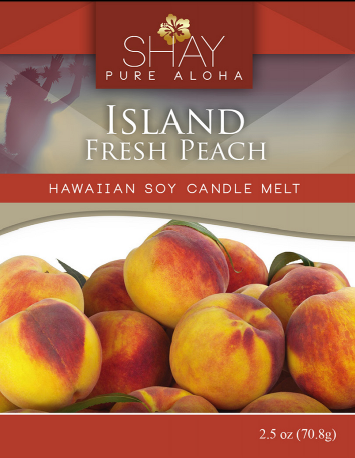 Island Fresh Peach Wickless Soy Candle Melts