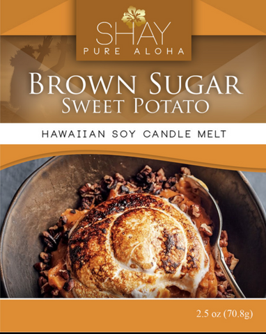 Brown Sugar Sweet Potato Wickless Soy Candle Melts - Shay Pure Aloha Inc