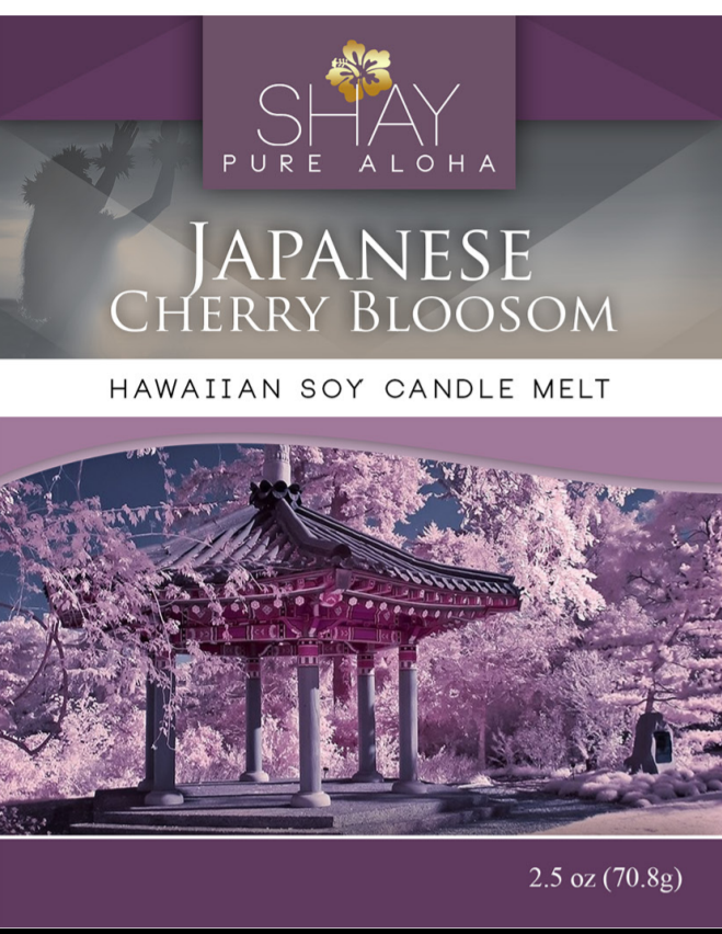 Japanese Cherry Blossom Wickless Soy Candle Melts - Shay Pure Aloha Inc