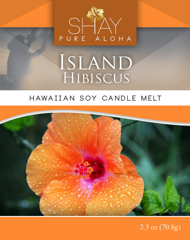 Island Hibiscus Wickless Soy Candle Melts - Shay Pure Aloha Inc