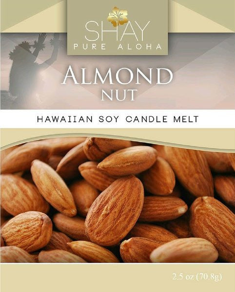 Almond Nut Wickless Soy Candle Melts - Shay Pure Aloha Inc