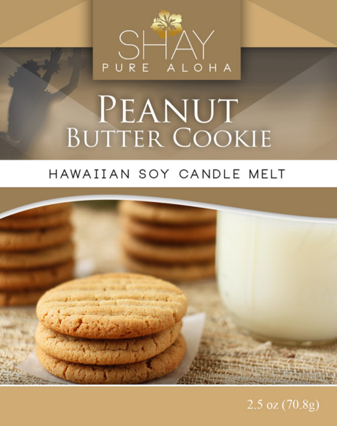 Peanut Butter Cookie Wickless Soy Candle Melts - Shay Pure Aloha Inc