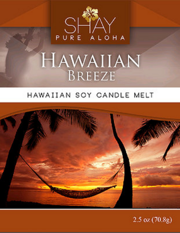 HAWAIIAN BREEZE Wickless Soy Candle Melts - Shay Pure Aloha Inc