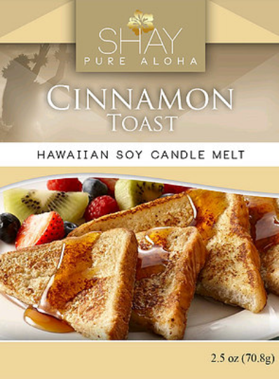 CINNAMON TOAST Wickless Soy Candle Melts - Shay Pure Aloha Inc