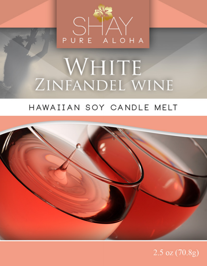 White Zinfandel Wine Wickless Soy Candle Melts