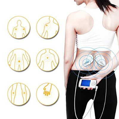 TEC.BEAN Rechargeable Tens EMS Unit with 16 Modes and 8 Pads Pulse Impulse Pain Relief Massager