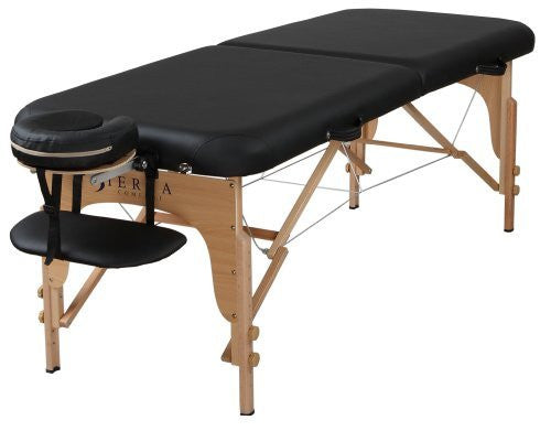 Sierra Comfort Preferred Portable Massage Table, Black - Can Deliver