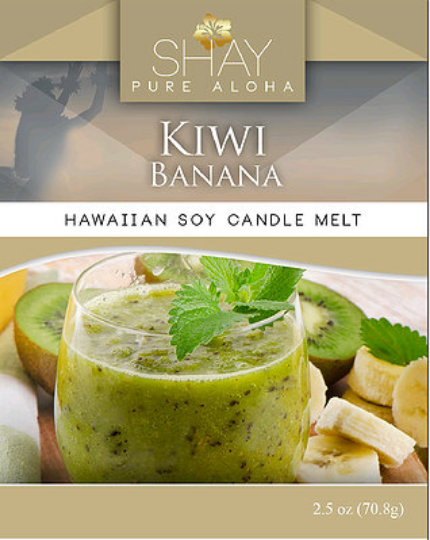 BANANA KIWI Wickless Soy Candle Melts - Shay Pure Aloha Inc