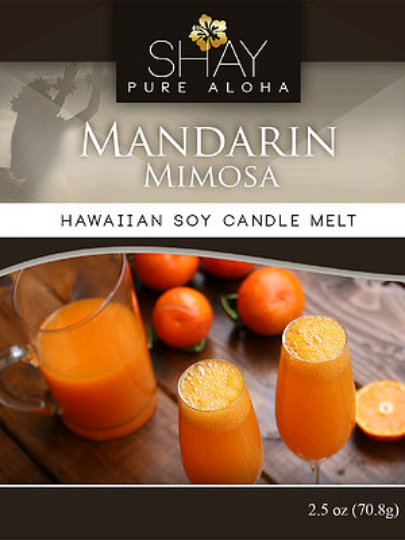 MIMOSA AND MANDARIN Wickless Soy Candle Melts - Shay Pure Aloha Inc