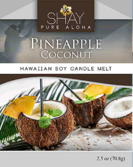 PINEAPPLE COCONUT Wickless Soy Candle Melts - Shay Pure Aloha Inc